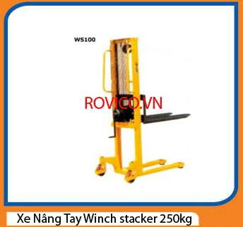 Xe Nâng Tay Winch stacker 250kg